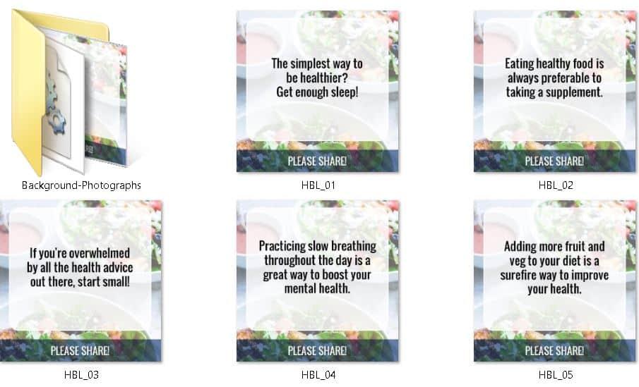 Health Boosting Lifestyle Premium PLR Social Graphics