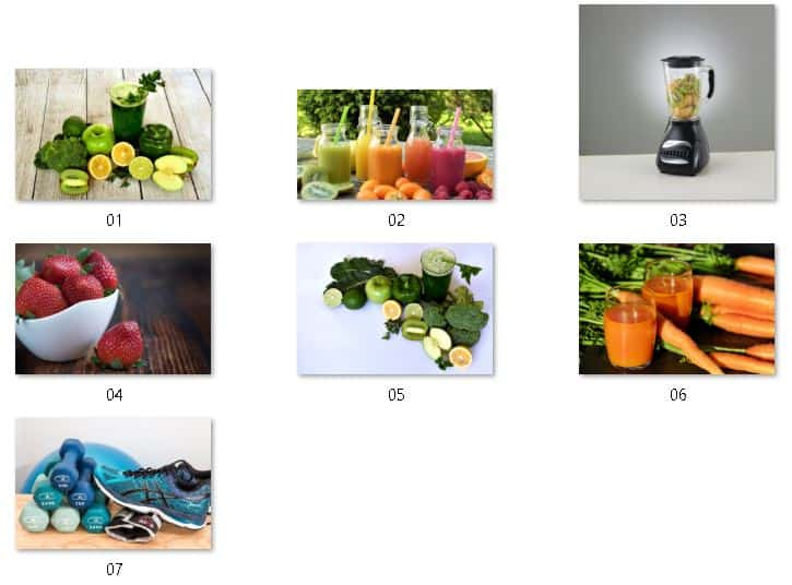 Juicing Smoothies Royalty Free Images