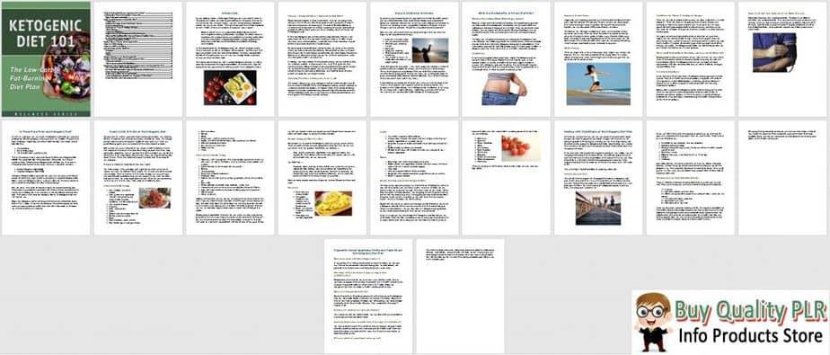 Keto Diet PLR Ebook Sneak Preview 1