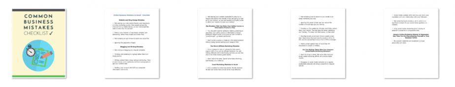 Marketing Mistakes PLR Checklist Inside Look