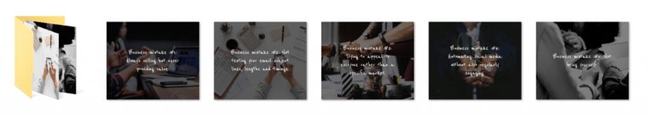 Marketing Mistakes PLR Social Graphics