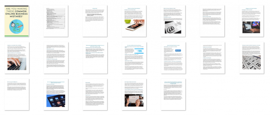Marketing Mistakes PLR eBook Inside Look