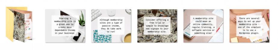 Membership Sites PLR Social Graphics