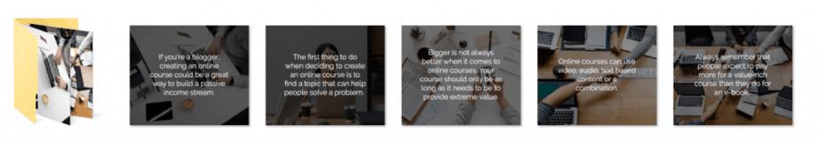 Online Courses PLR Social Graphics