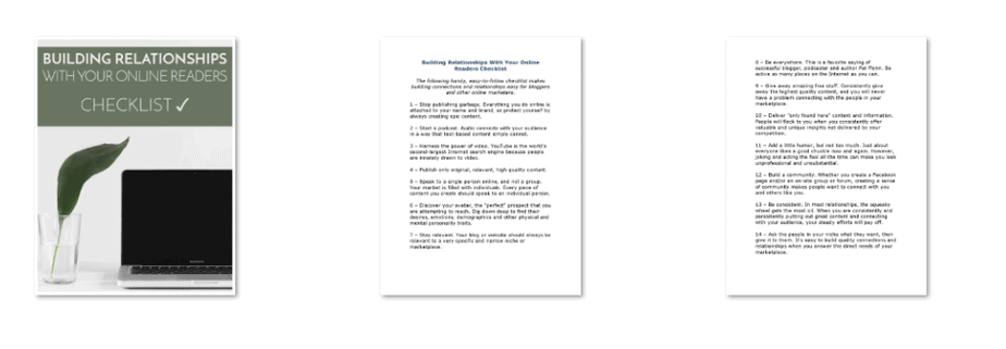 Online Relationships PLR Checklist Inside Look