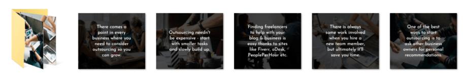 Outsourcing PLR Social Graphics
