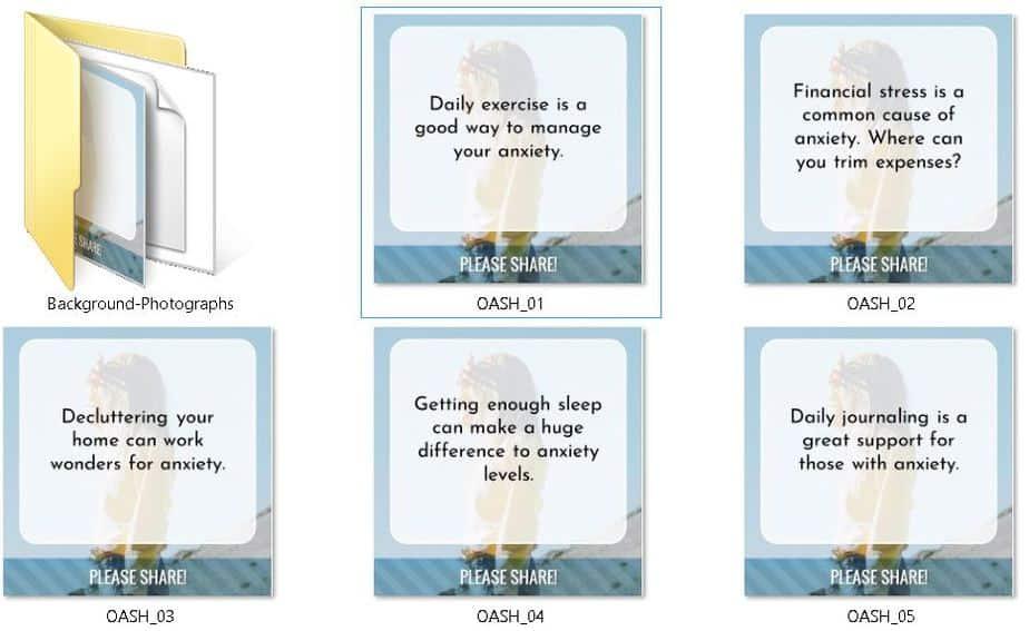 Overcoming Anxiety Premium PLR Social Graphics