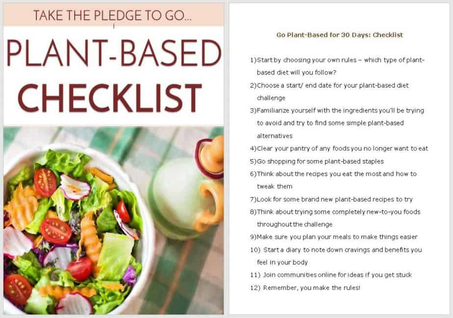 Plant Based Diets Premium PLR Checklist Sneak Preview
