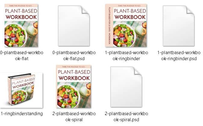 Plant Based Diets Premium PLR Workbook Ecover Files