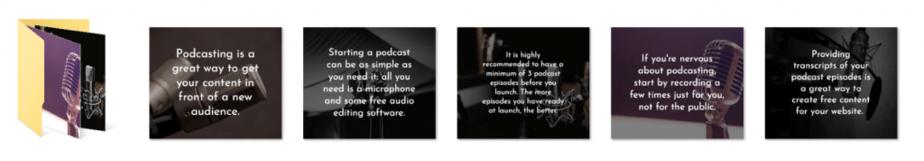 Podcasting PLR Social Graphics