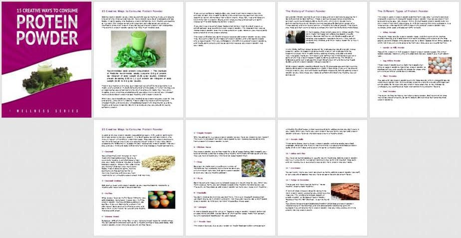 Protein Premium PLR Report Sneak Preview