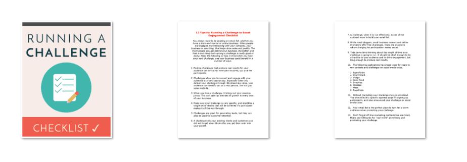 Running A Challenge PLR Checklist Inside Look