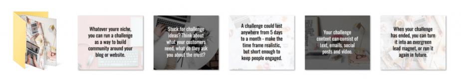 Running A Challenge PLR Social Graphics