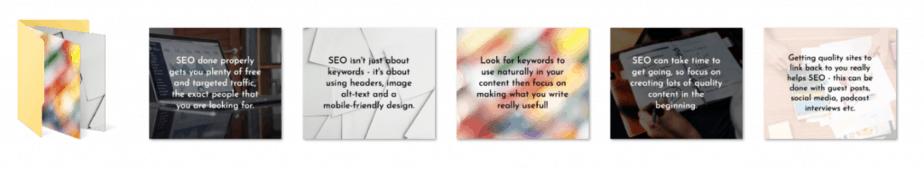 SEO for Beginners PLR Social Graphics