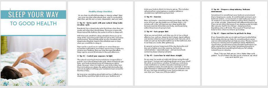 Sleep Health Premium PLR Checklist