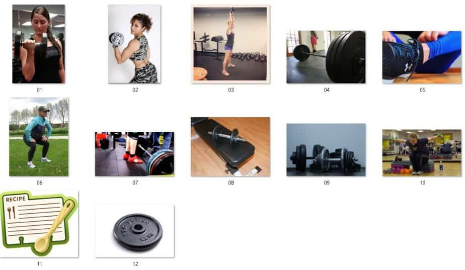 Strength Training for Women Royalty Free Images