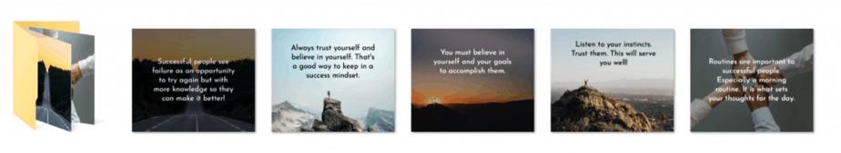 Success Mindset PLR Social Graphics