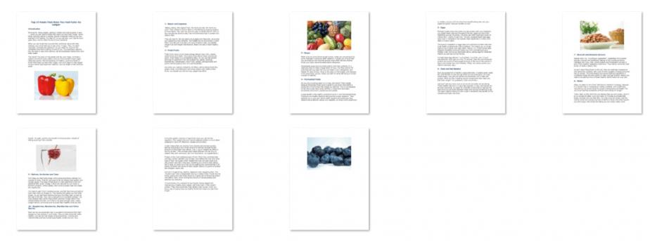10 Foods For Diet PLR Report Inside Look