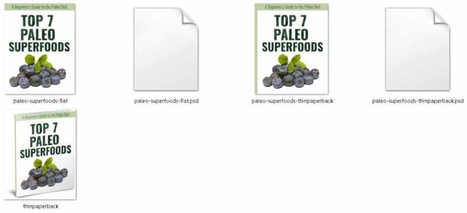 Top 7 Paleo Superfoods Printable Ecovers
