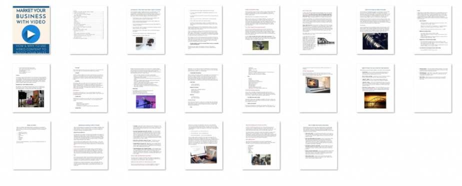 Video Marketing PLR eBook Inside Look