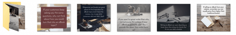 Writing An eBook PLR Social Graphics
