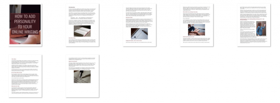 Content Writing PLR Report