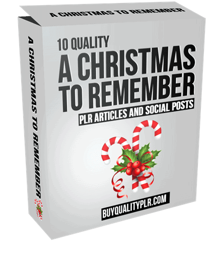 10 A Christmas to Remember PLR Articles and Social Posts