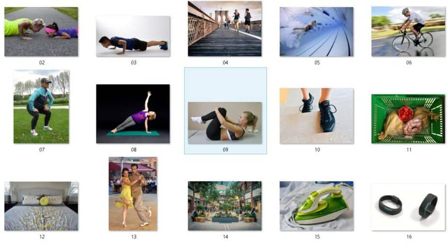 30 Day Fitness Challenge Royalty Free Images