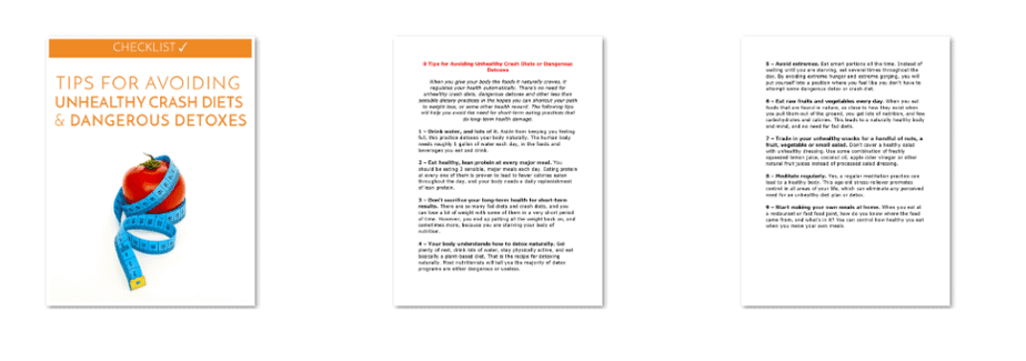 Avoid Dangerous Crash Diets Checklist Inside Look