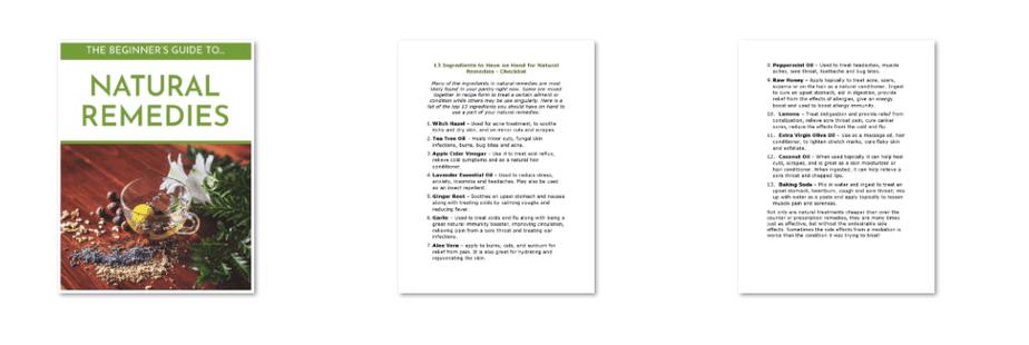 Beginner Guide to Natural Remedies PLR Checklist Inside Look