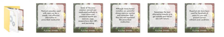 Beginner Guide to Natural Remedies Premium PLR Social Graphics