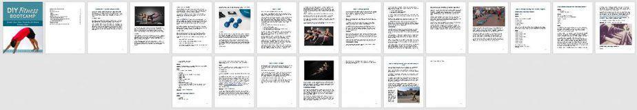 DIY Fitness Bootcamp Premium PLR Ebook Sneak Preview