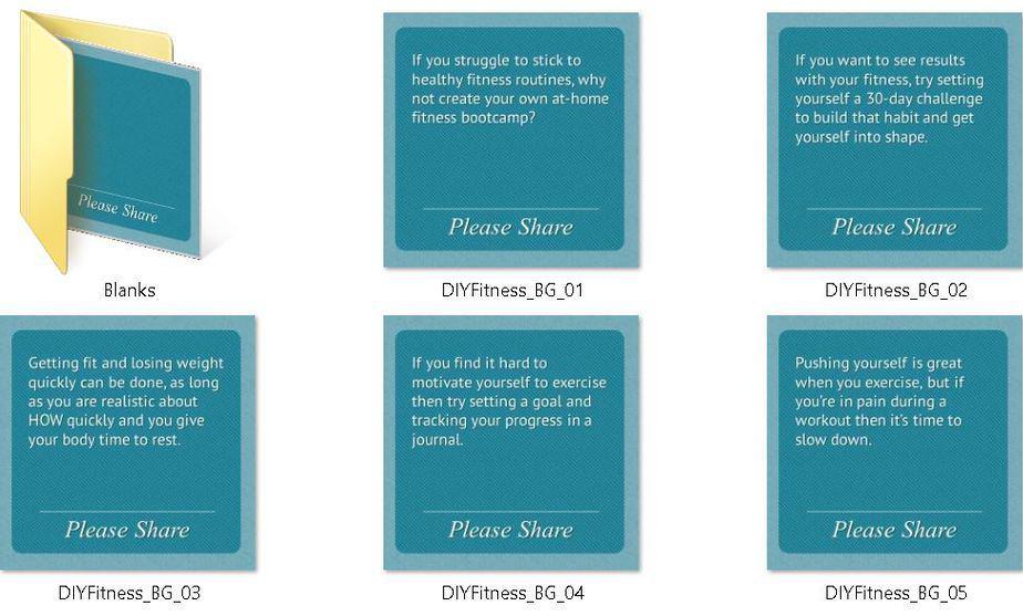 DIY Fitness Bootcamp Premium PLR Social Media Tips