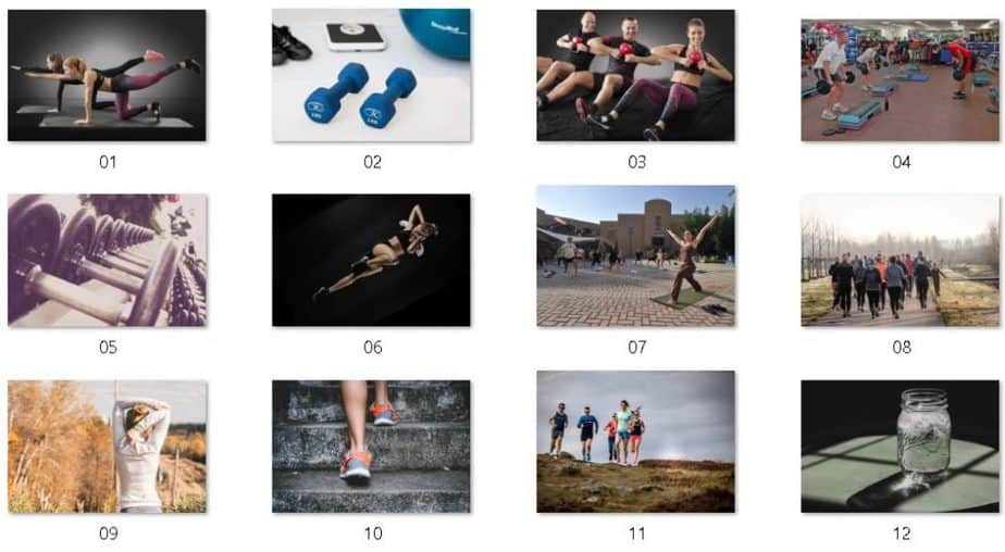 DIY Fitness Bootcamp Royalty Free Images