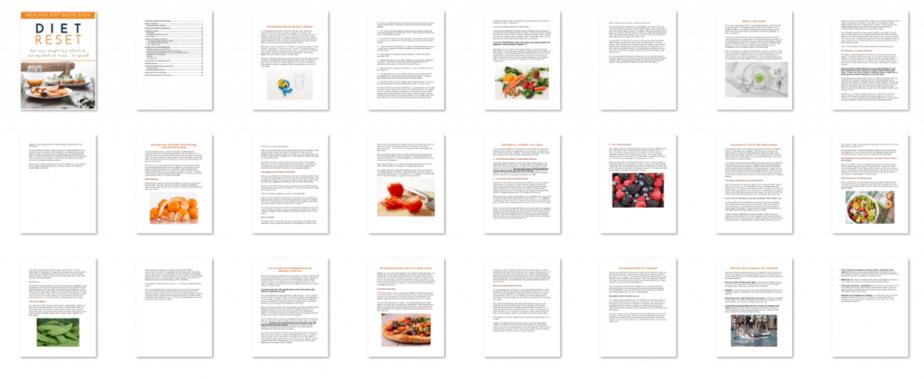 Diet Reset PLR eBook Inside Look