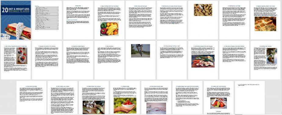 Diet and Weight Loss Mistakes Premium PLR Ebook Sneak Preview