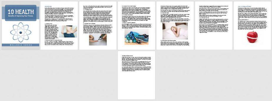 Fitness As Medicine Premium PLR Report Sneak Preview