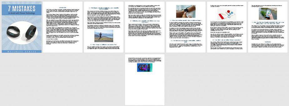 Fitness Tech Premium PLR Report Sneak Preview