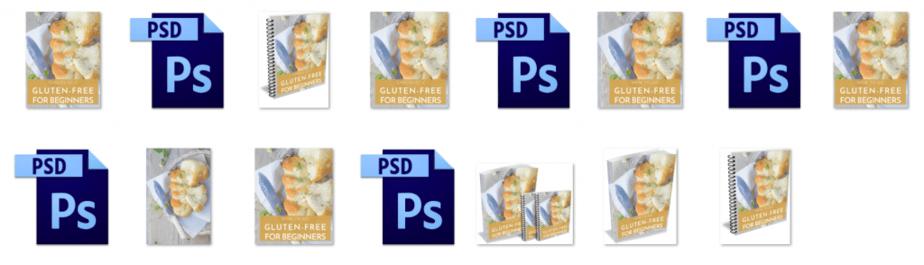 Gluten Free PLR Editable Ecovers