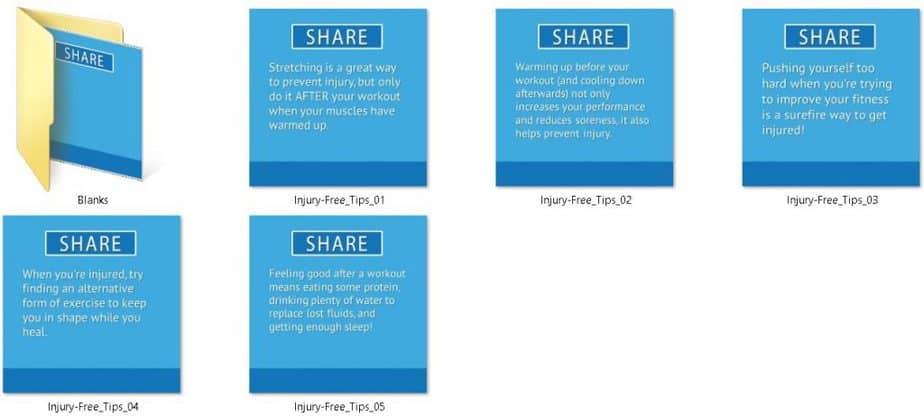 Injury Free Fitness PLR Social Fitness Tips
