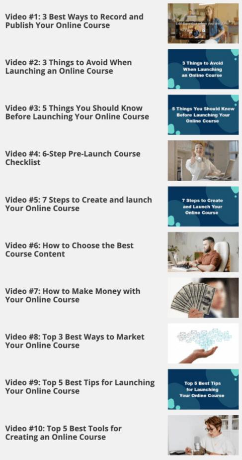 Launch Your Online Course Videos
