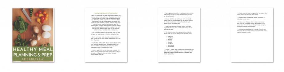 Meal Planning PLR Checklist Inside look