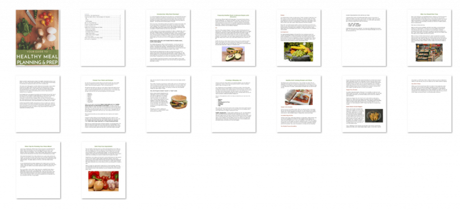 Meal Planning PLR Ebook Inside Look