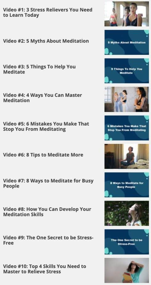 Meditation For Busy People Videos