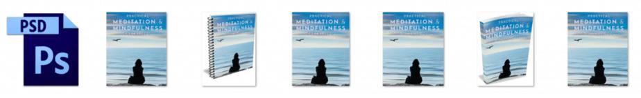 Meditation and Mindfulness PLR Editable Ecovers
