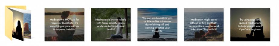 Meditation and Mindfulness PLR Social Graphics