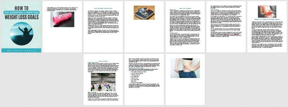 Mental Side of Weight Loss Premium PLR Report Sneak Preview