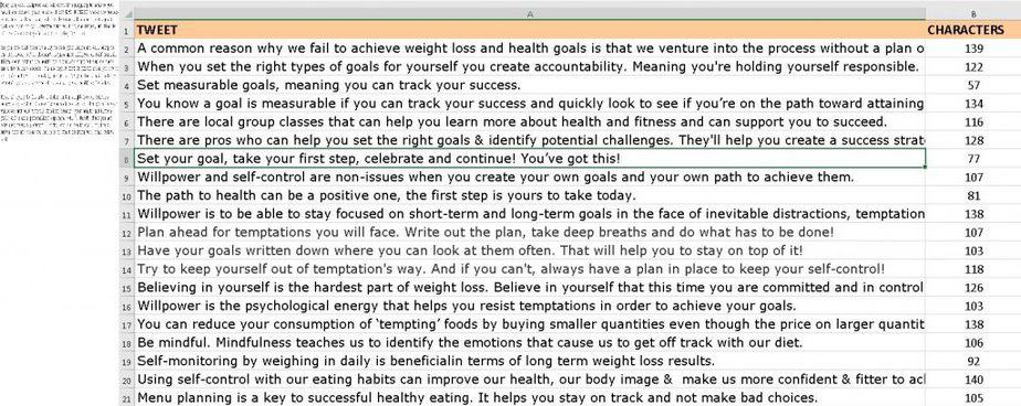 Mental Side of Weight Loss Premium PLR Social Media Tweets
