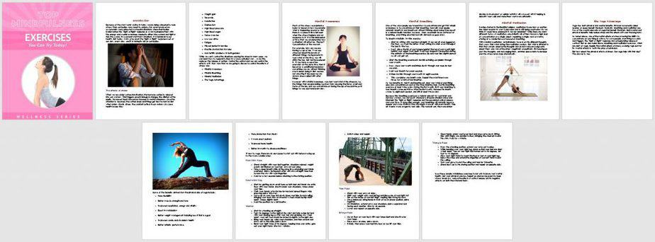 Mindful Fitness Premium PLR Report Sneak Preview