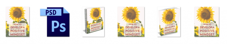 Positive Thinking PLR Editable Ecovers